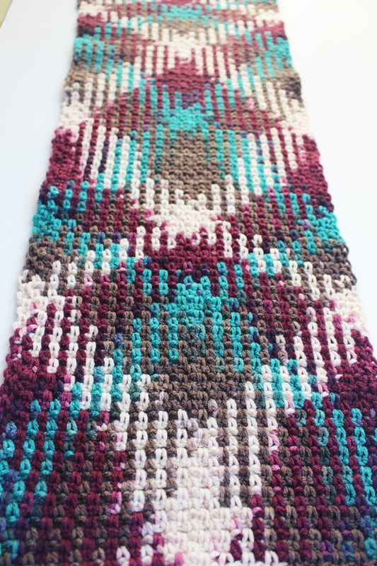 Argyle Heart Graph Chart Afghan Pattern crochet knit
